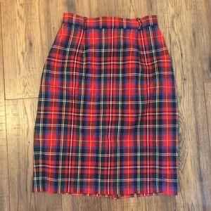 Vintage Plaid pencil skirt 🎄